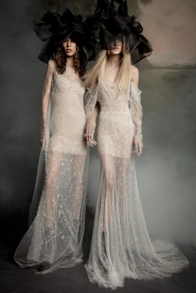 Ivory gowns from Vera Wang's Fall 2020 bridal collection
