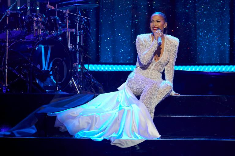 J-Lo at the 2019 New Year's Eve concert