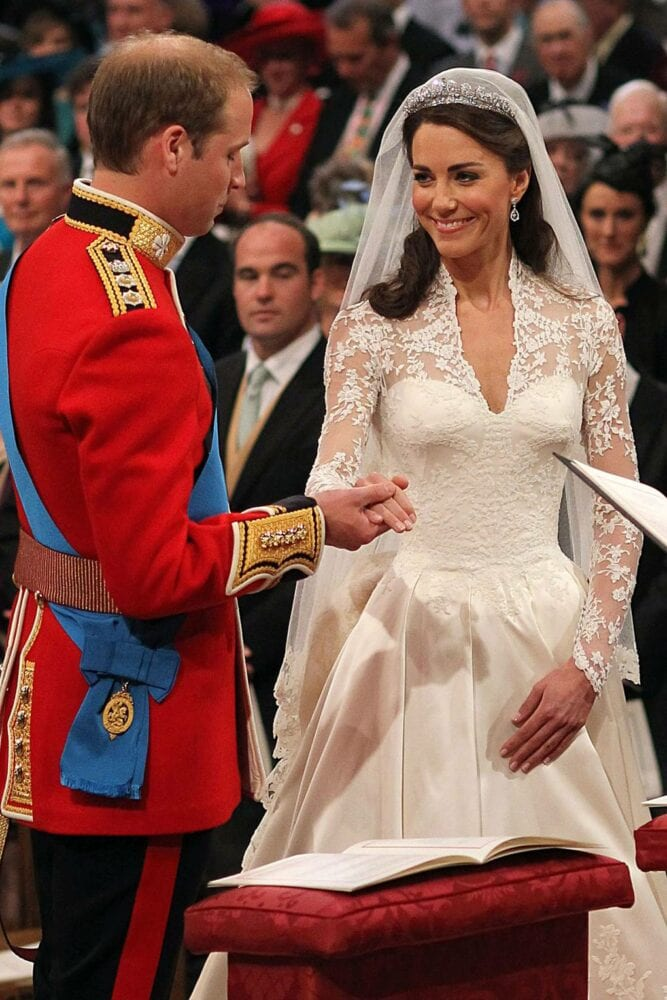 Kate Middleton wearing Queen Elizabeth's tiara in 2011