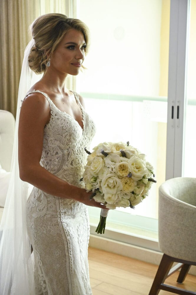 Krystal Nielson's wedding dress