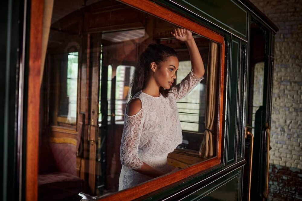 Lace dress by Valentine Avoh