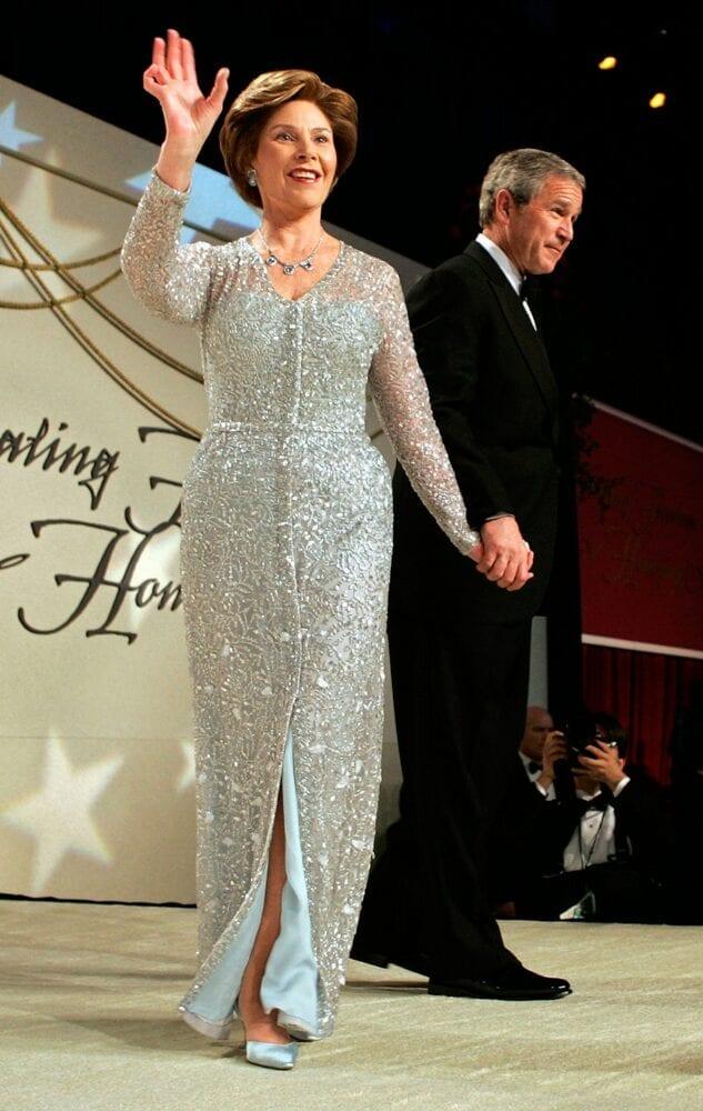 Laura Bush at 2005 Stars & Stripes Ball