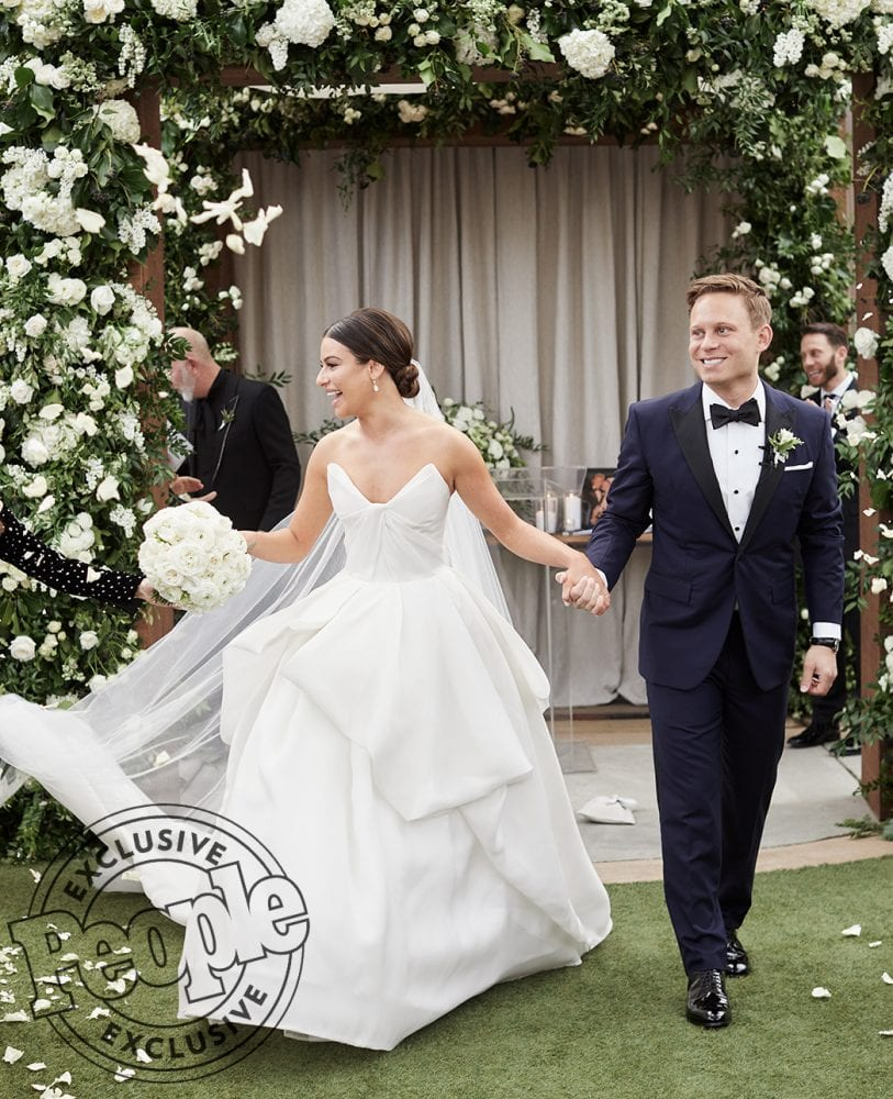 Lea Michele's wedding dress by Monique Lhuillier