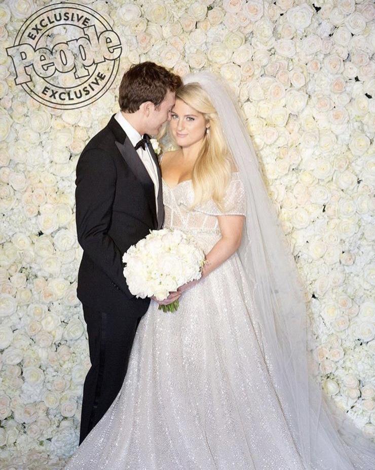 Meghan Trainor wedding photo
