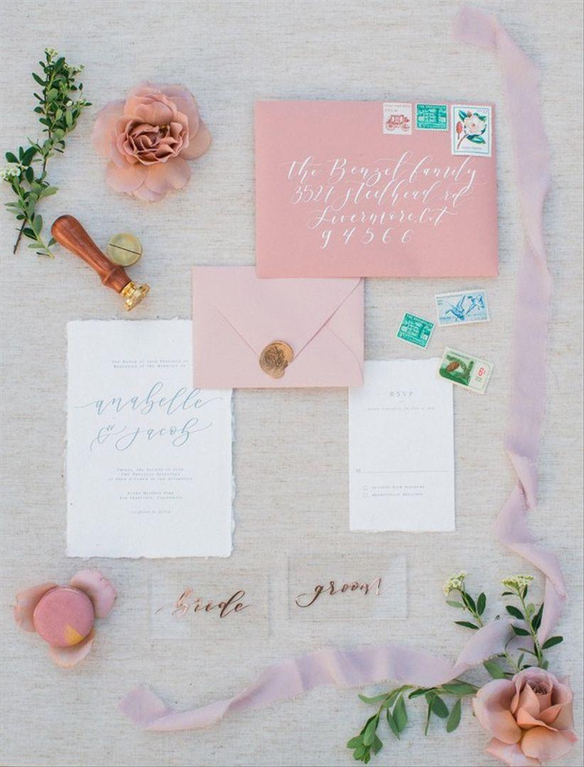 Modern pastel invitations