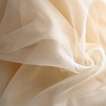 Yellow silk Fabric