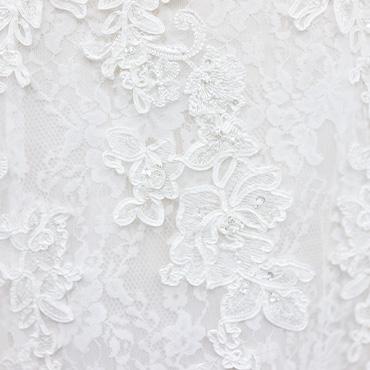 Lace wedding dress fabric