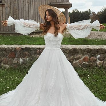 Bride having fun on wedding day
