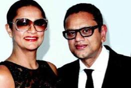 Naeem Khan with his wife Ranjana
