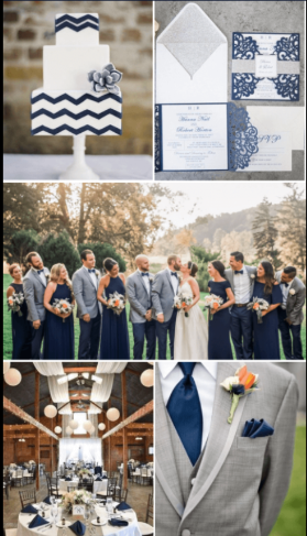 Navy & Grey Wedding