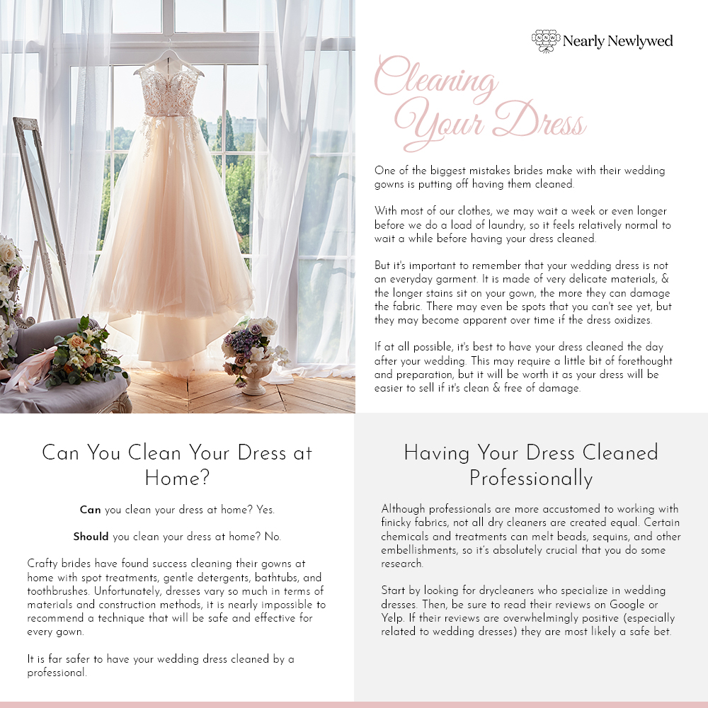 Wedding dress cleaning guide