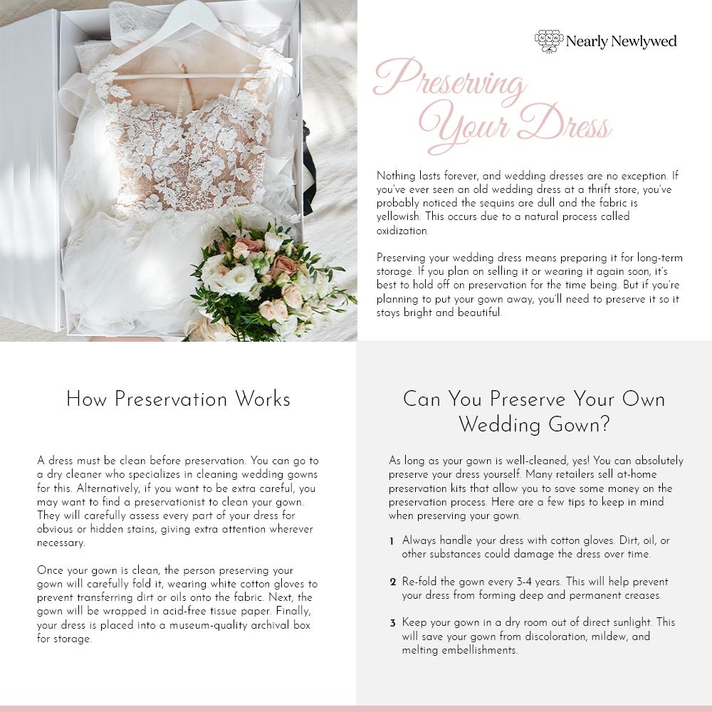 Wedding dress preservation guide