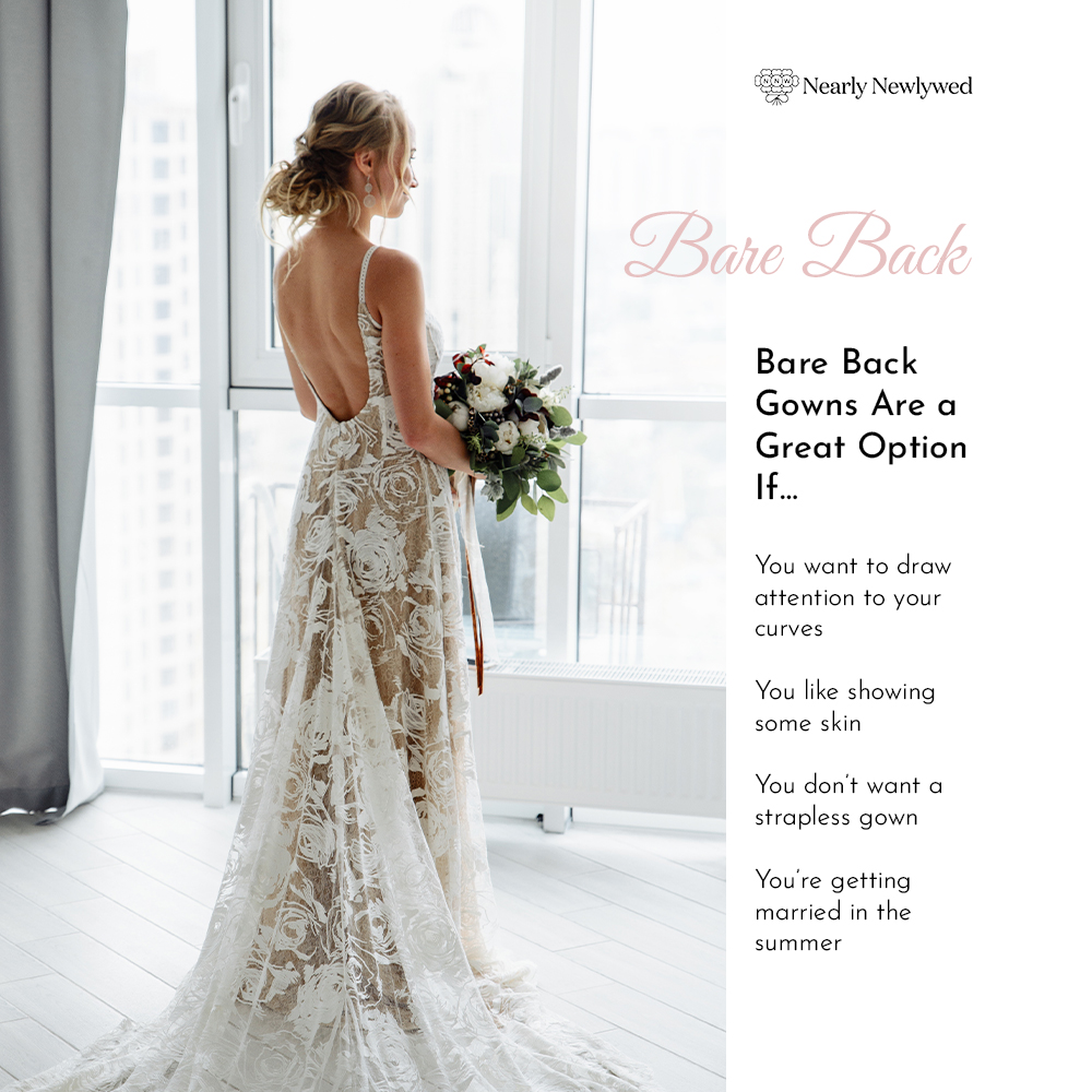 Bride Showing off bare back dress