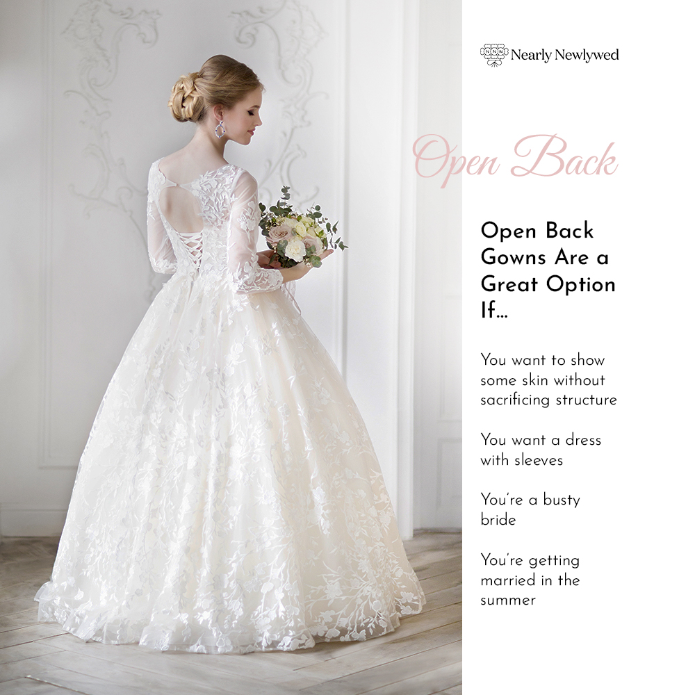 Bride Showing off open back dress