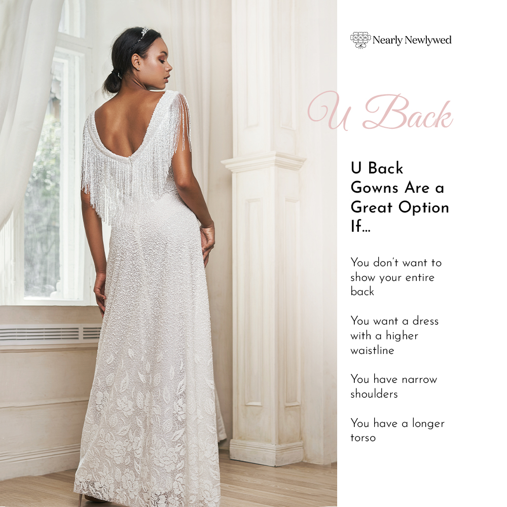 Bride Showing off uback dress