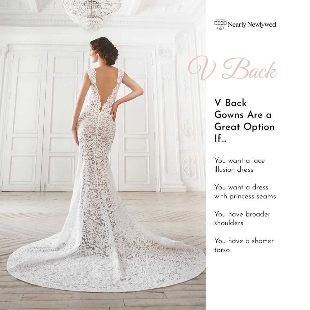 Bride Showing off vback dress
