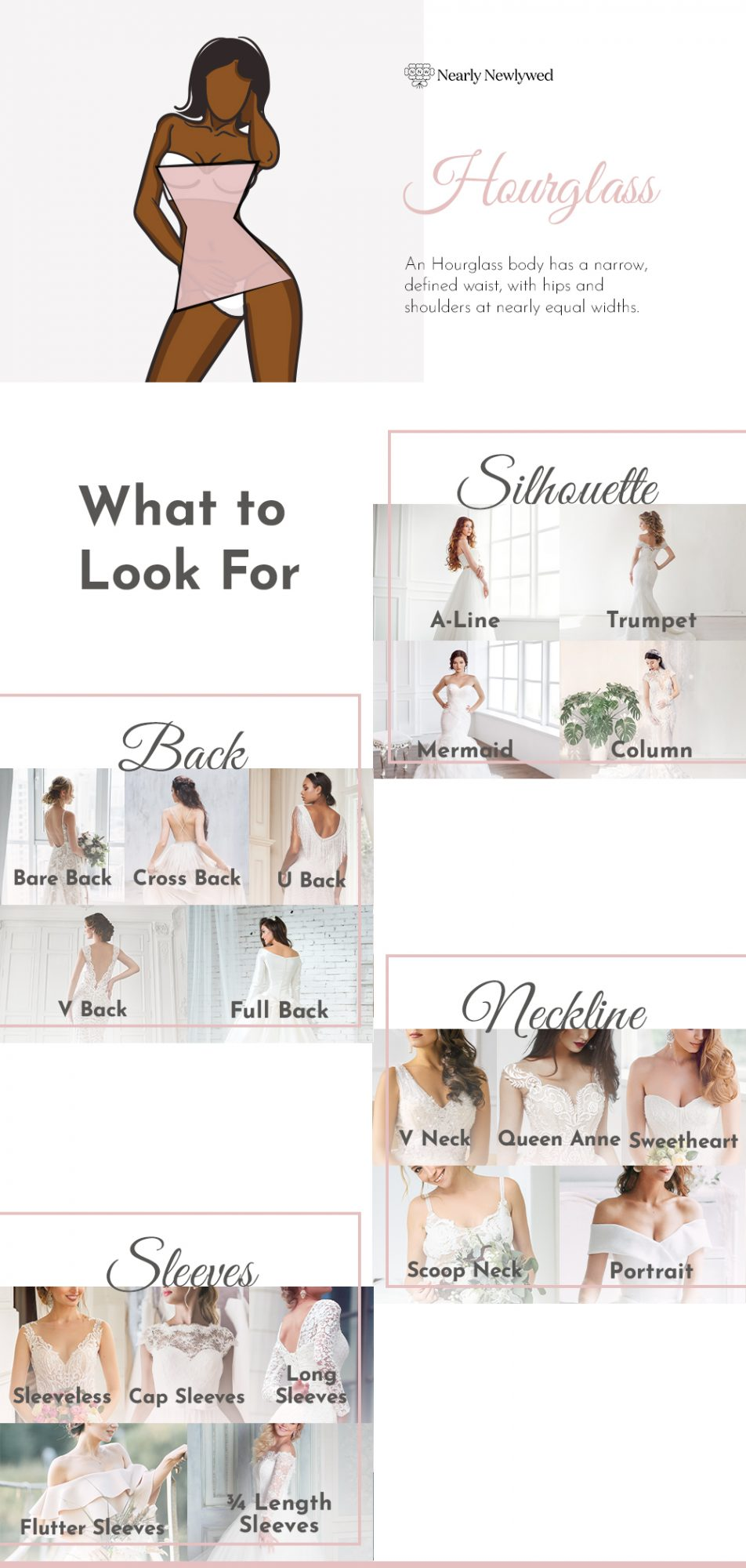 Wedding dress recommendations for Hourglass bodies
