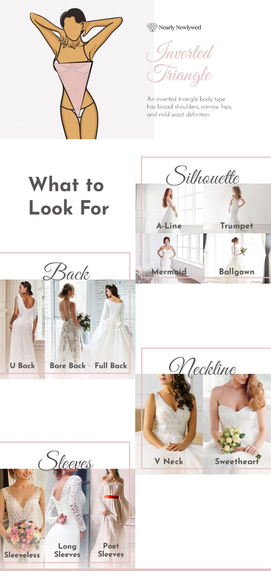 Wedding dress recommendations for Triangle bodies