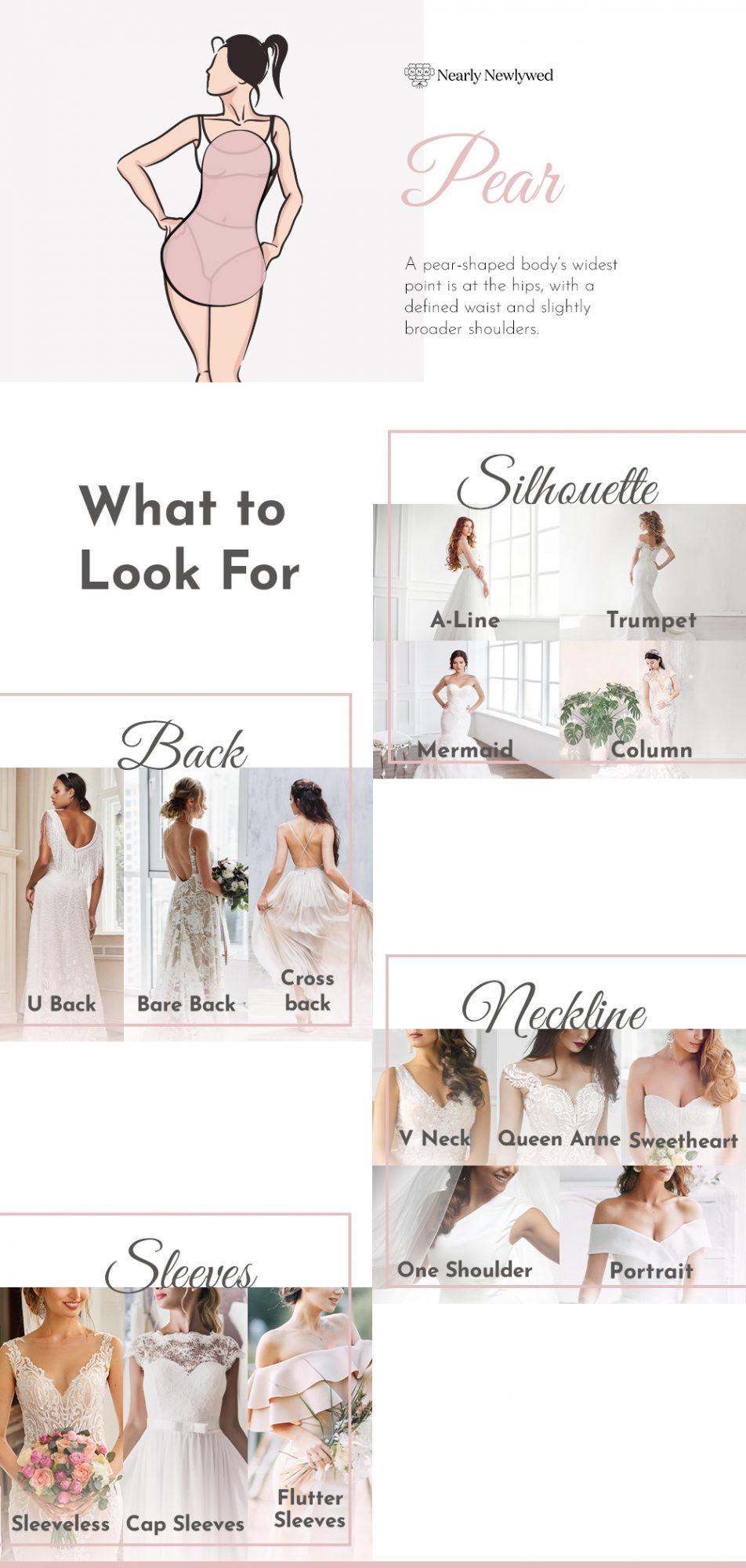 Wedding dress recommendations for pear bodies