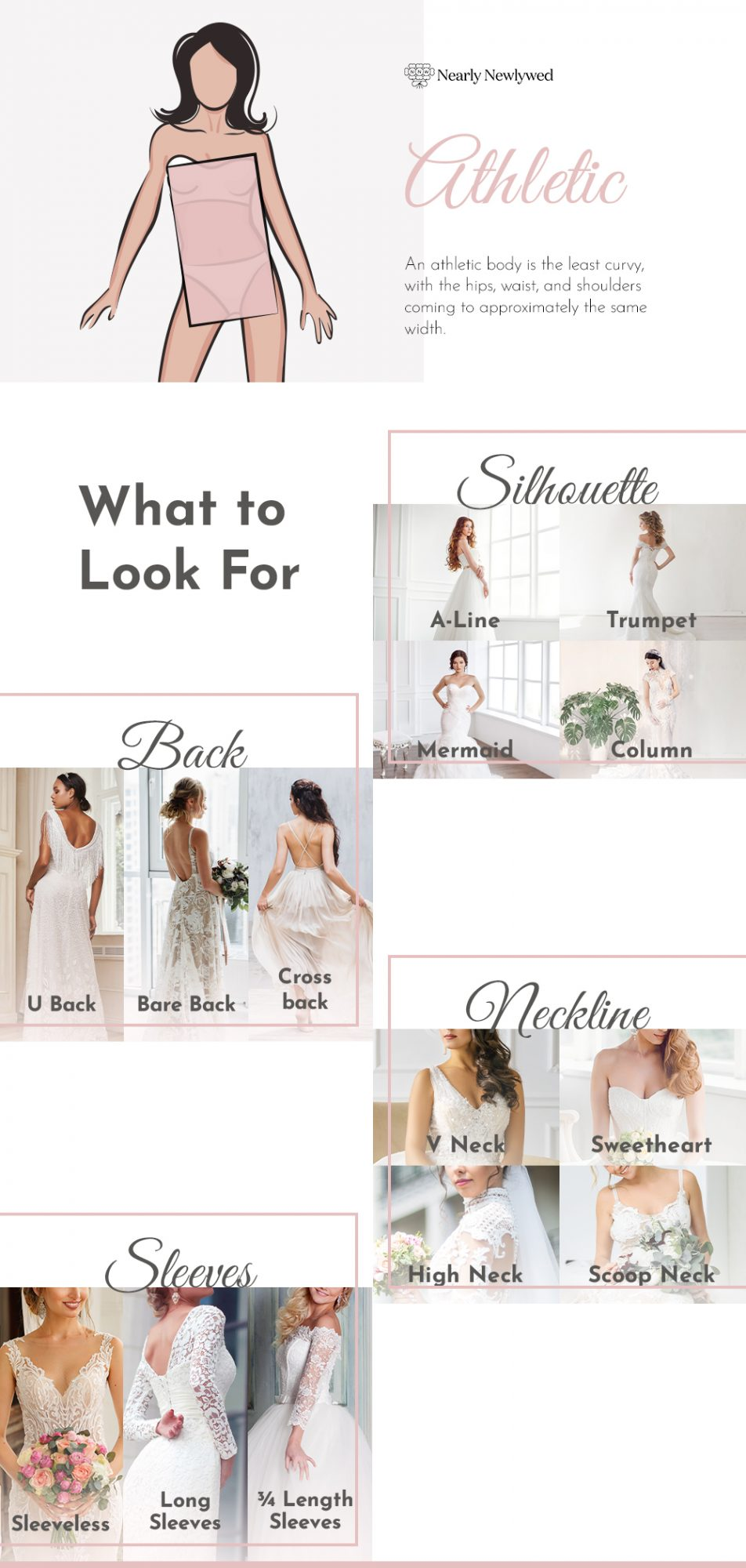 Wedding dress recommendations for athletic bodies
