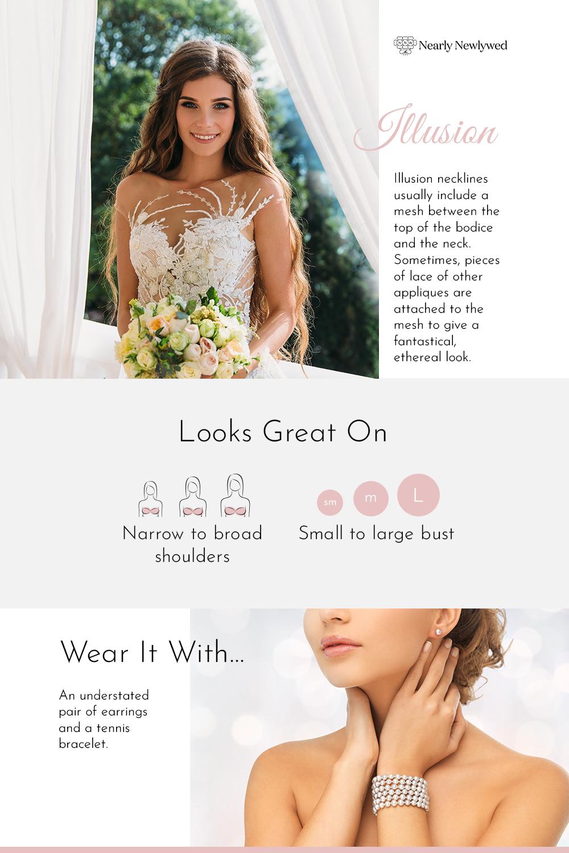 Illusion Wedding Dress Neckline Infographic