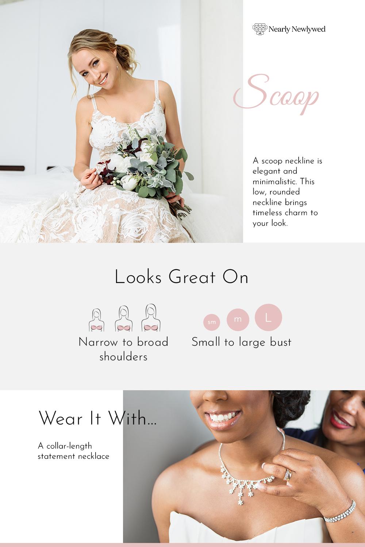 Scoop Wedding Dress Neckline Infographic