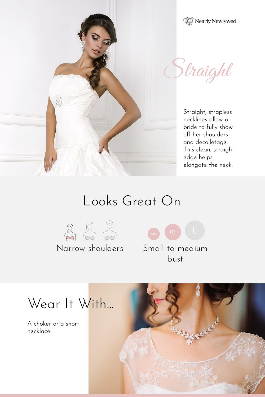 Straight Wedding Dress Neckline Infographic