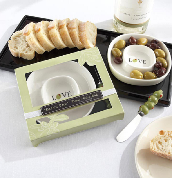 Olive tray wedding favor