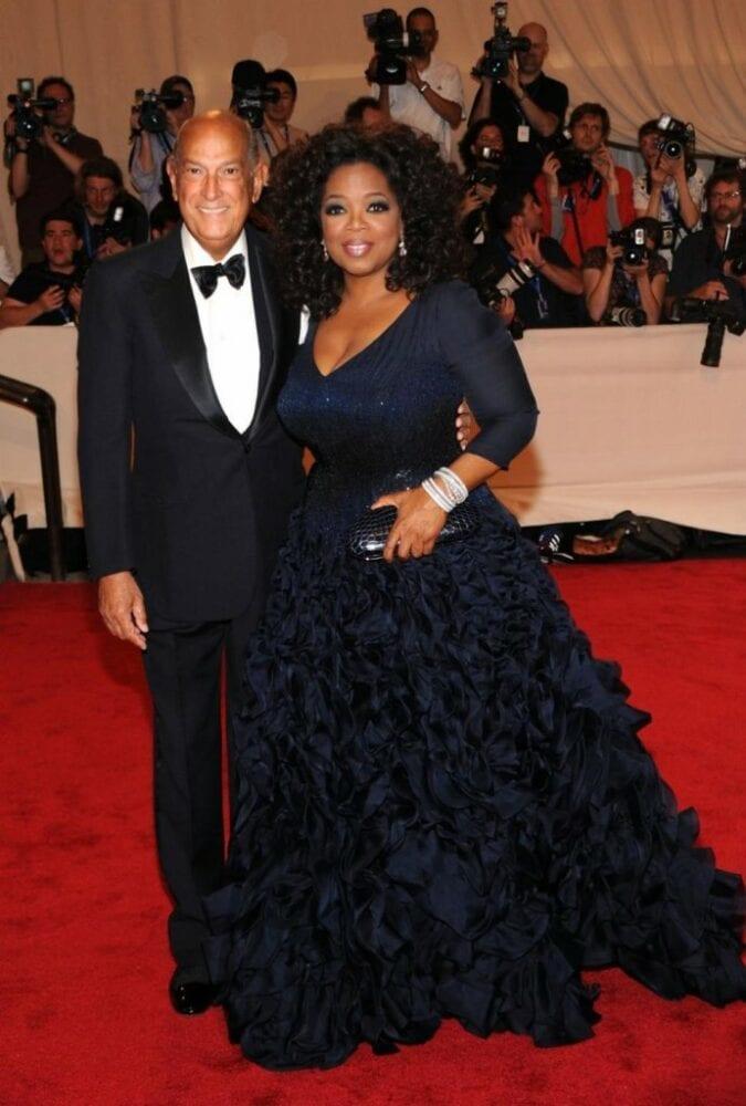 Oprah Winfrey with Oscar de la Renta at Met Ball 2010