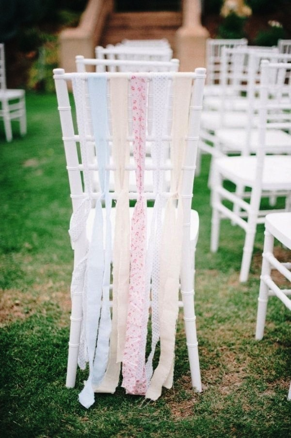 Pastel chair ribbons