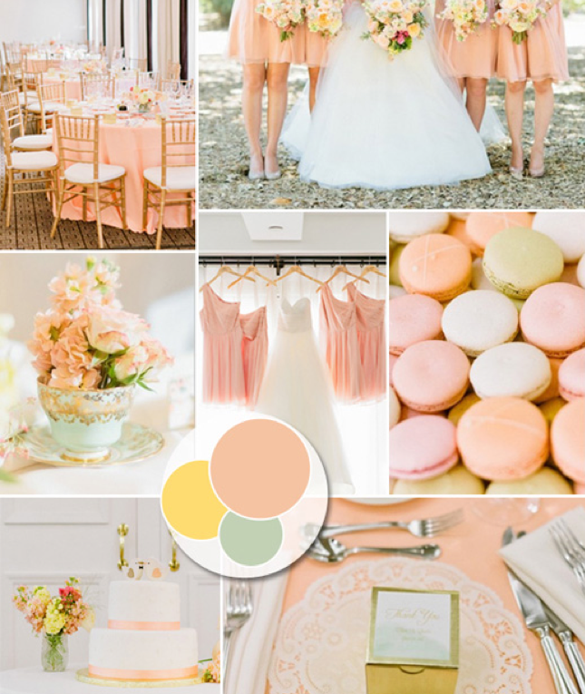 Peachy Keen Wedding Palette