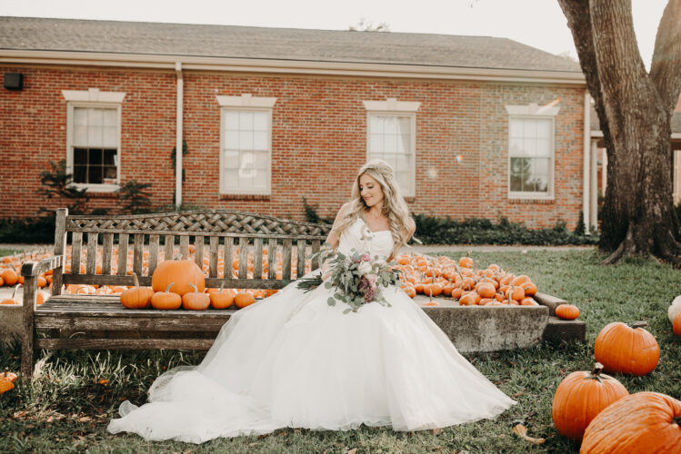 Pumpkin fall wedding photos