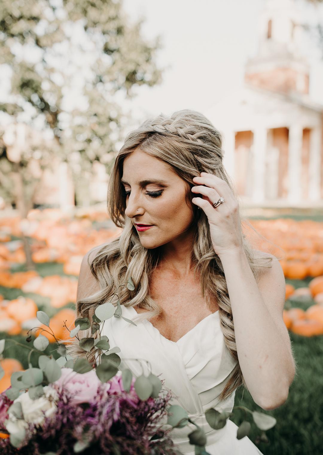 Fall wedding bridal portraits