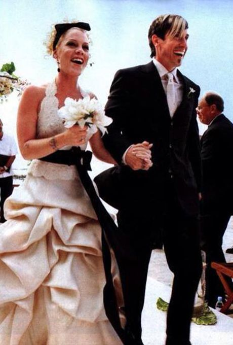 P!nk's wedding dress by Monique Lhuillier