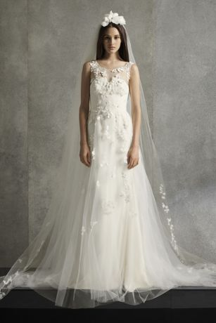 Punched floral wedding dress from White by Vera Wang collection