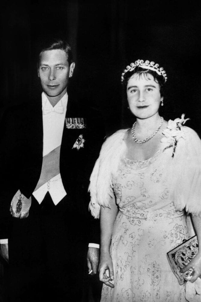 Queen Elizabeth in her tiara in 1937