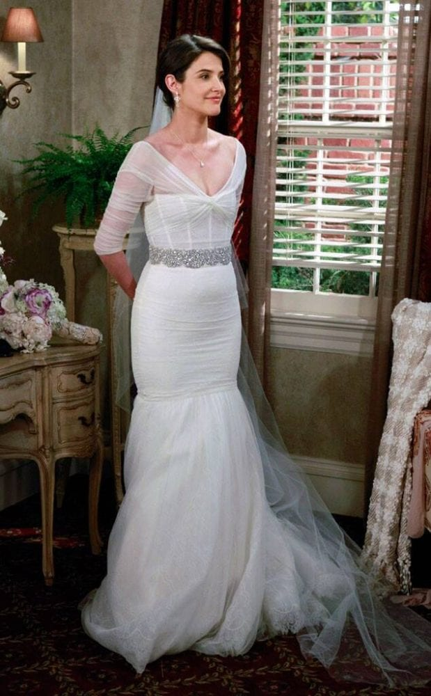 Robin's wedding dress from How I Met Your Mother