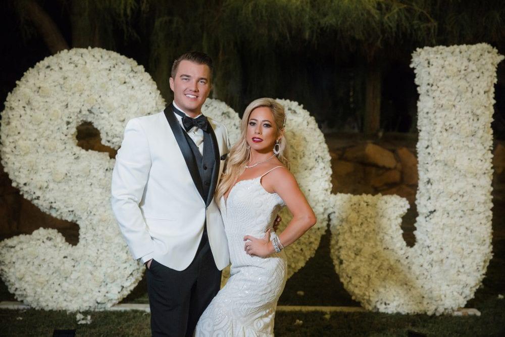 Sabrina Bryan in her second Hayley Paige wedding dress