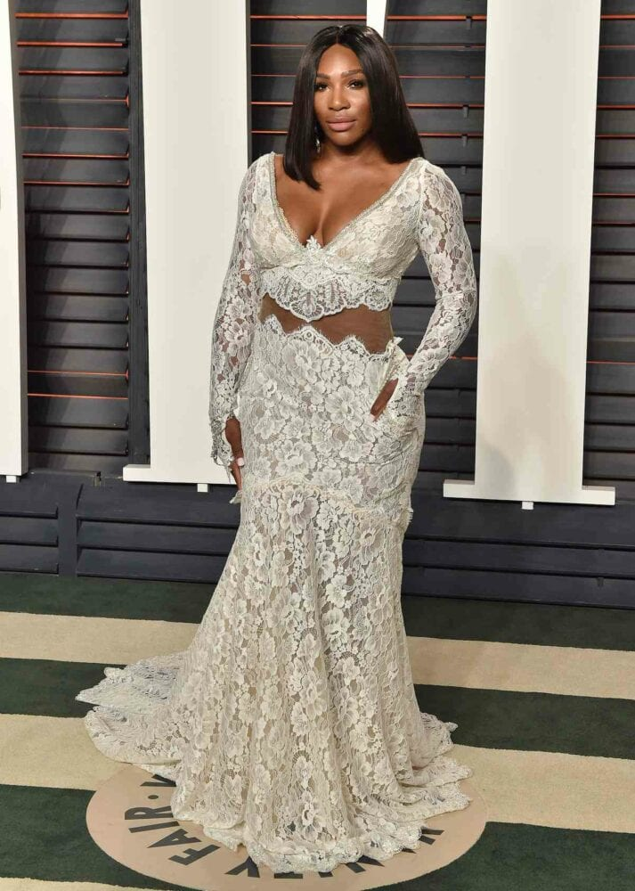 Serena Williams at the 2016 Vanity Fair Oscars party