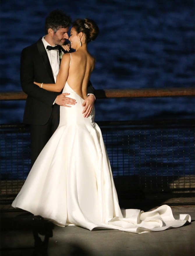 Sharleen Joynt's wedding dress