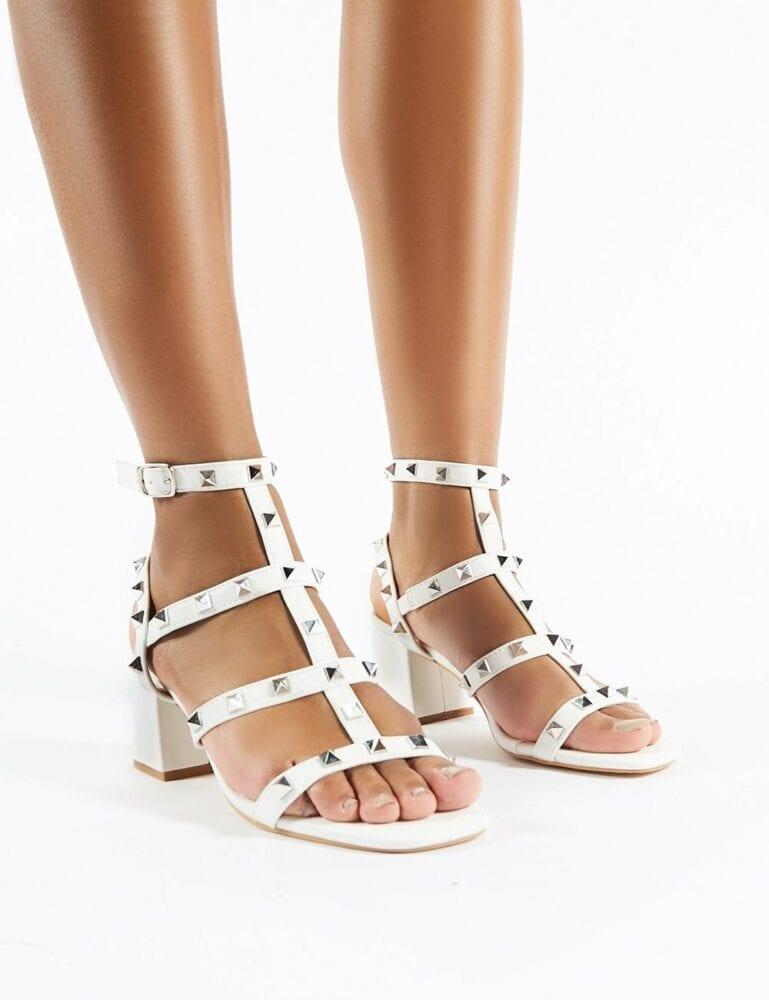 Studded heel sandal