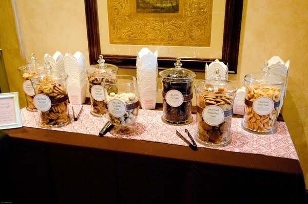 Sweets station with to-go bags