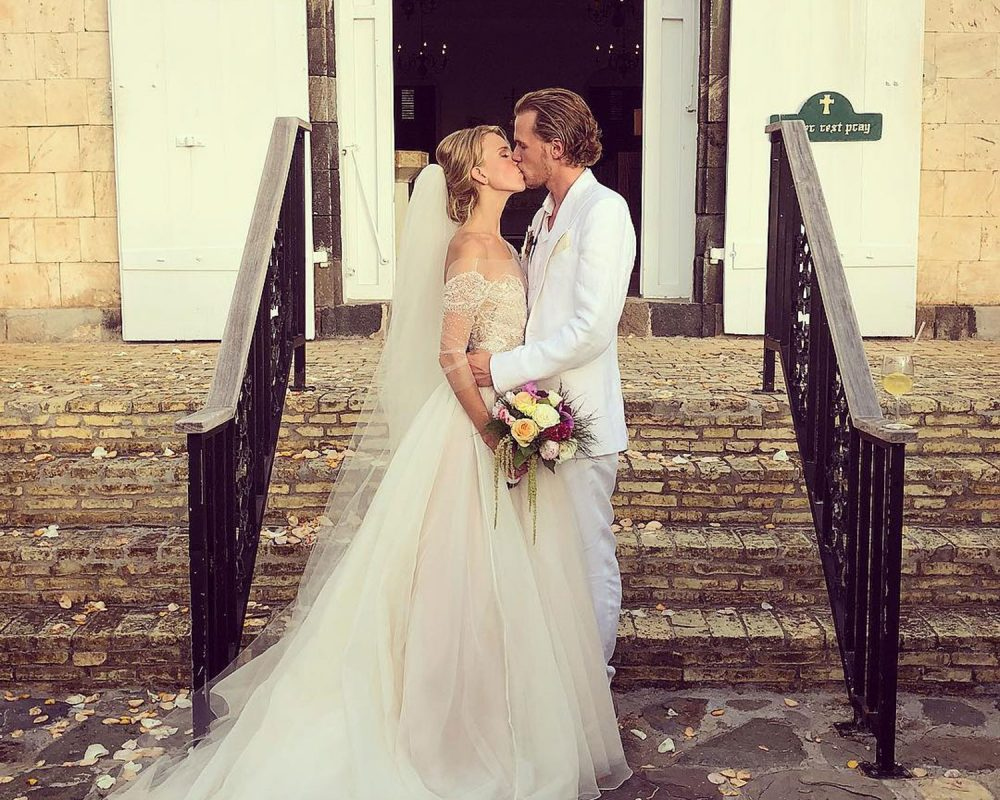 Tessa Gräfin von Walderdorff's custom Watters wedding dress