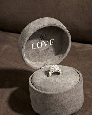 Vera Wang Love engagement ring in a box