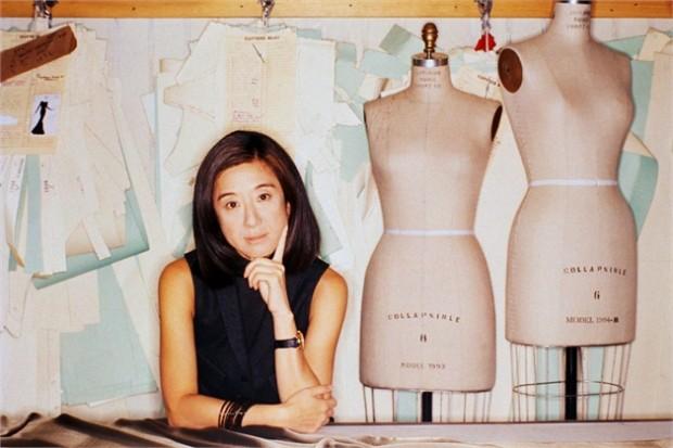 Vera Wang in her design studio in 1994