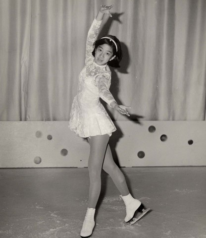 Vera Wang in her ice-skating costume