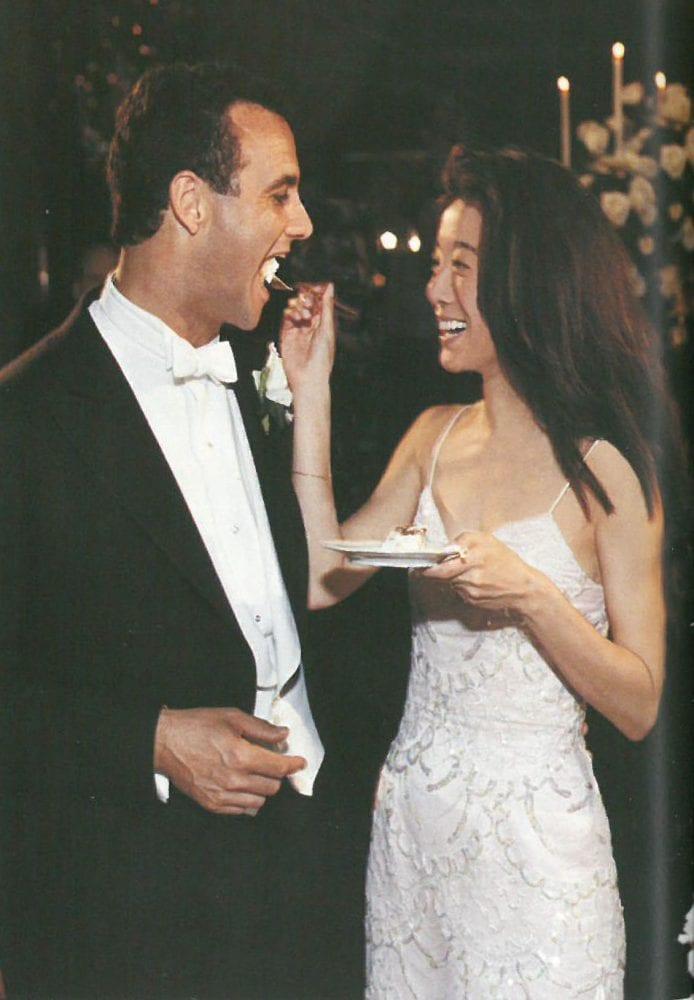 Vera Wang on her wedding day
