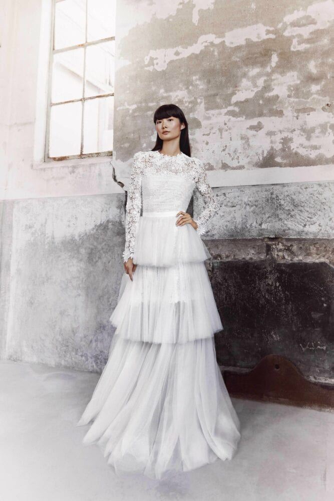 Viktor&Rolf blooming lace tiered gown