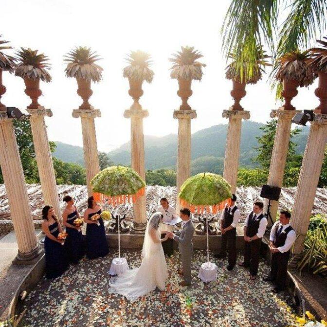 Wedding at Villa Caletas' Amphitheater