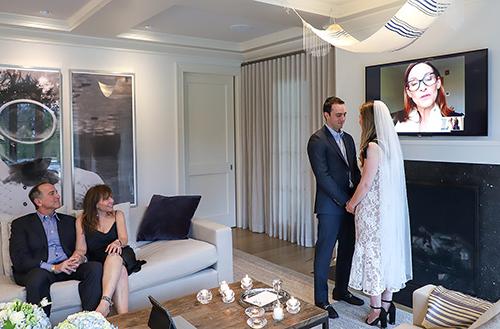 Virtual wedding ceremony